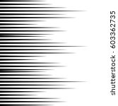 comic book speed lines vector... | Shutterstock .eps vector #603362735
