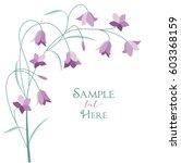vector illustration purple bell ... | Shutterstock .eps vector #603368159
