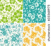 vector set of seamless pattern... | Shutterstock .eps vector #603368975