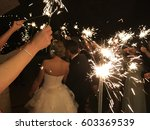 wedding sparklers with bride   Shutterstock . vector #603369539