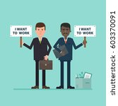 i want to work. the concept of... | Shutterstock .eps vector #603370091