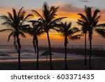 sunrise at durban's north beach | Shutterstock . vector #603371435
