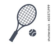 tennis  vector illustration in... | Shutterstock .eps vector #603371999