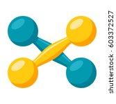 a pair of dumbbells  vector... | Shutterstock .eps vector #603372527