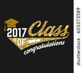 vector class of 2017 badge.... | Shutterstock .eps vector #603373589