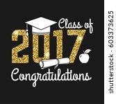 vector class of 2017 badge.... | Shutterstock .eps vector #603373625