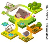 isometric icon of many storey... | Shutterstock .eps vector #603379781