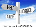 help  support  guidance concept ... | Shutterstock . vector #603381224