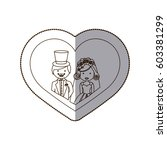 happy couple merried inside the ... | Shutterstock .eps vector #603381299