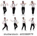 young man with moustache... | Shutterstock . vector #603388979