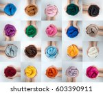 Set Of Colorful Merino Wool...