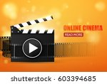 online cinema background with... | Shutterstock .eps vector #603394685