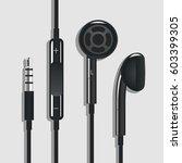 earphone black | Shutterstock .eps vector #603399305