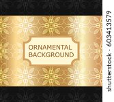 luxury ornamental vintage... | Shutterstock .eps vector #603413579