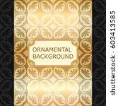 luxury ornamental vintage... | Shutterstock .eps vector #603413585