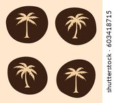 palm trees icon vector... | Shutterstock .eps vector #603418715