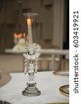 candlestick. glass candlestick.  | Shutterstock . vector #603419921