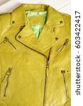 Green Color Leather Jacket....