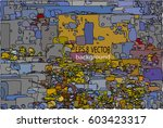 exclusive vector collection of... | Shutterstock .eps vector #603423317