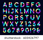 colorful overlays font only... | Shutterstock .eps vector #603426797