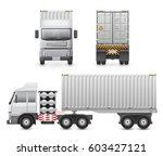vector of trailer truck and...