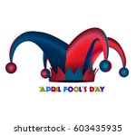 april fools day graphic design  ... | Shutterstock .eps vector #603435935