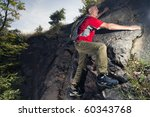 an active senior hiking   Shutterstock . vector #60343768