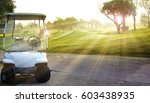 golf car on the golf course | Shutterstock . vector #603438935