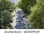 traffic in 23 de maio avenue in ... | Shutterstock . vector #603439529