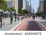 sao paulo  brazil   october 23  ... | Shutterstock . vector #603440075