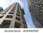 office buildings in avenue... | Shutterstock . vector #603440585