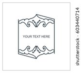 vector outline text template. | Shutterstock .eps vector #603440714