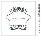 vector outline text template. | Shutterstock .eps vector #603440744