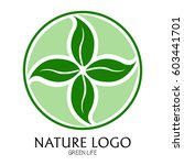 isolated nature logo on a white ... | Shutterstock .eps vector #603441701
