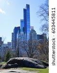 new york  ny  2 mar 2017  view... | Shutterstock . vector #603445811