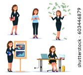 vector illustration set young... | Shutterstock .eps vector #603446879