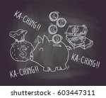 piggy bank isolated on... | Shutterstock .eps vector #603447311
