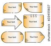 cartoon blank templates  ... | Shutterstock .eps vector #603455837