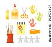 themed kids creativity creation ... | Shutterstock .eps vector #603471629