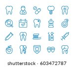 set of minimal dentist dental... | Shutterstock .eps vector #603472787