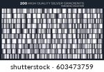 silver gradient pattern... | Shutterstock .eps vector #603473759