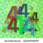 number 4 template art | Shutterstock .eps vector #603494699