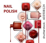 close up of nail polish flow on ... | Shutterstock .eps vector #603508124