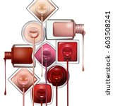 close up of nail polish flow on ... | Shutterstock .eps vector #603508241