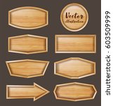 vector wood sign background | Shutterstock .eps vector #603509999