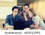 asian team group freelancer in... | Shutterstock . vector #603511991