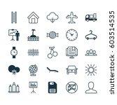 set of 25 universal editable...   Shutterstock .eps vector #603514535
