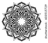 mandalas for coloring book.... | Shutterstock .eps vector #603515729