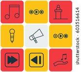 set of 9 multimedia icons....