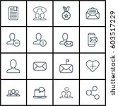 set of 16 social network icons. ... | Shutterstock .eps vector #603517229